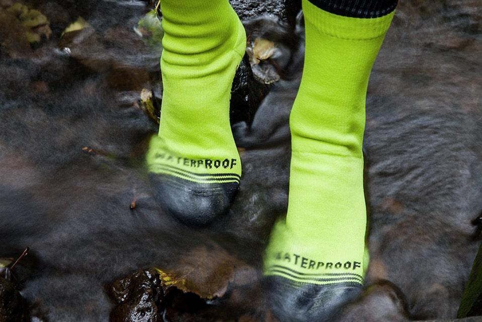 Crosspoint Waterproof Hi-Viz Crew Socks