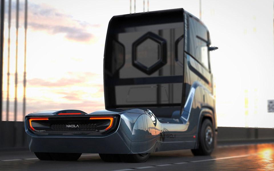 Nikola Motors viser første billeder af brint-lastbilen Tre