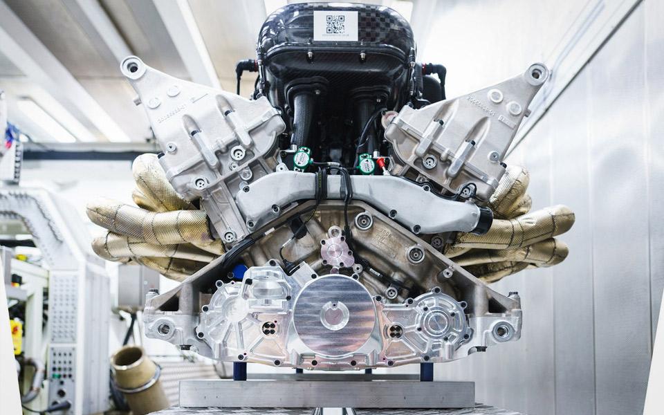 Motoren i den nye Aston Martin Valkyrie er direkte brutal