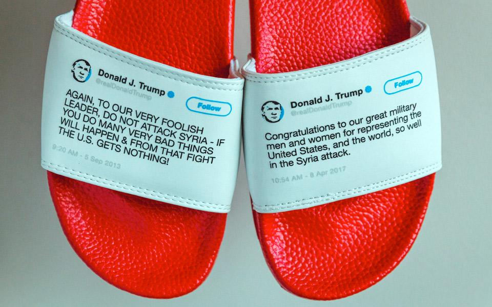 President Flip Flops smider selvmodsigende Trump-citater på klipklappere