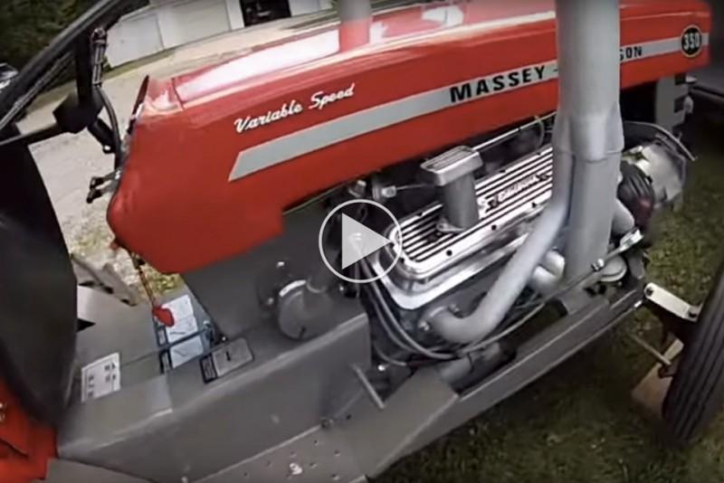 V8-havetraktor
