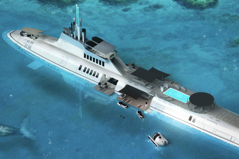 подводная лодка на яхте абрамовича