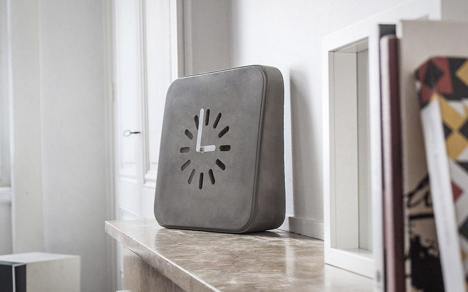 Life in Progress Concrete Clock