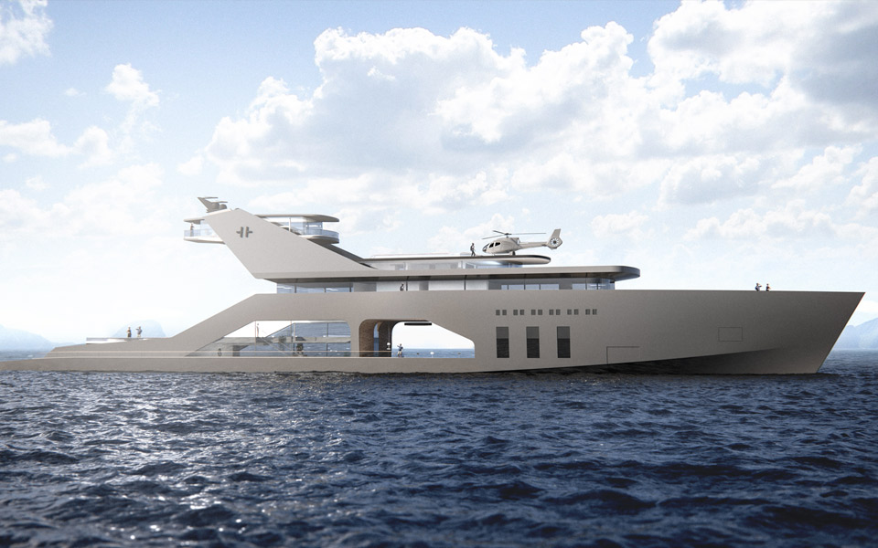 Hareide Design Norway 108M mega yacht