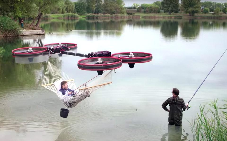 Drone-hængekøjen er muligvis verdens bedste opfindelse