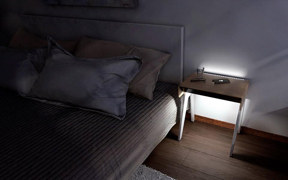 Curvilux - det smarte natbord