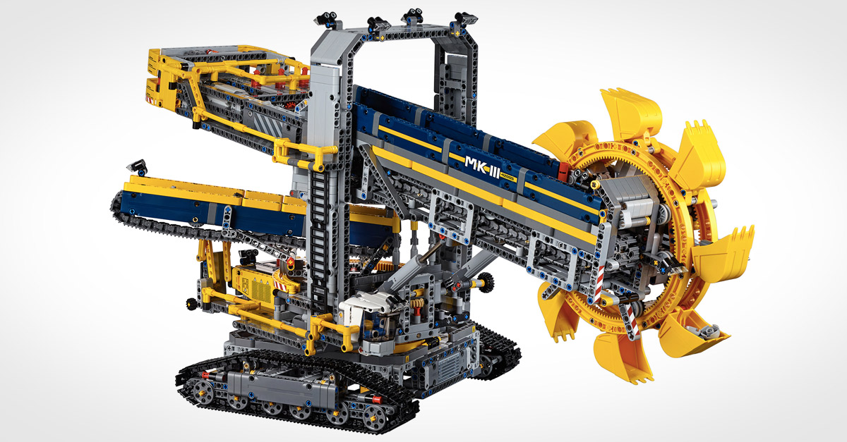 lego technic bucket wheel excavator mandesager. Black Bedroom Furniture Sets. Home Design Ideas