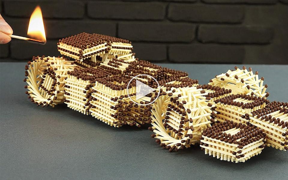 Sådan laver du en sej F1-bil af tændstikker uden at bruge lim