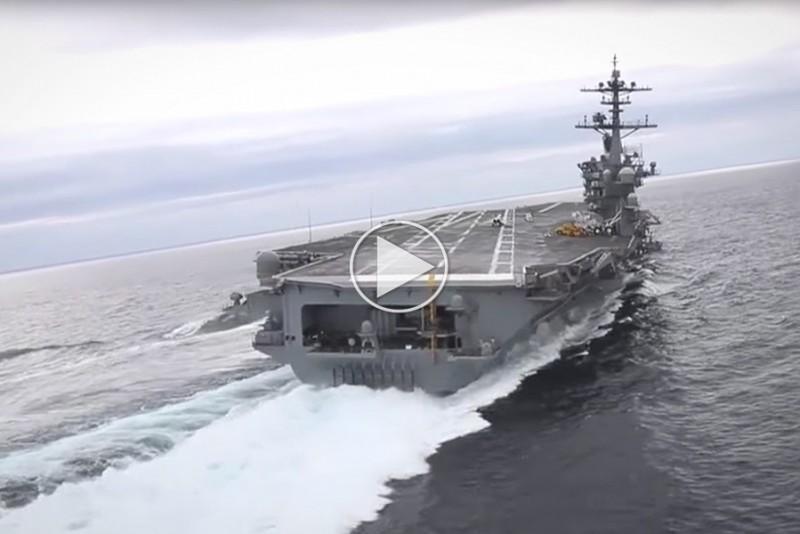 Det er imponerende at se et hangarskib lave en U-vending
