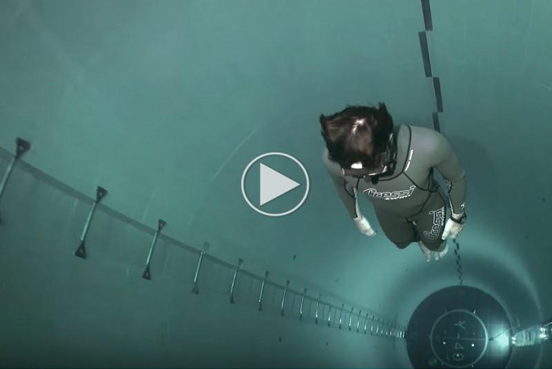 Fridykning i verdens dybeste pool