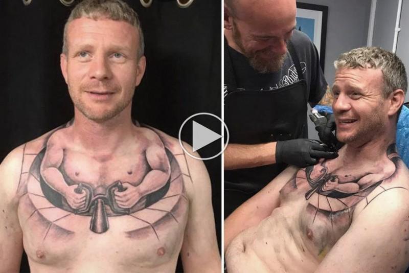 Lastbilchauffør pryder kroppen med gennemført tatovering