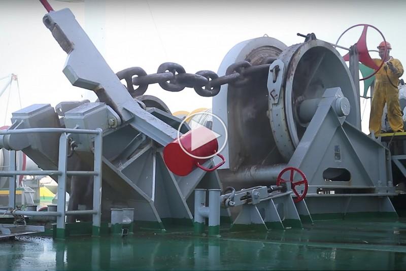 Sådan kaster mega-skibe anker