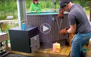 Kan man opvarme et spabad med en klump rødglødende stål?