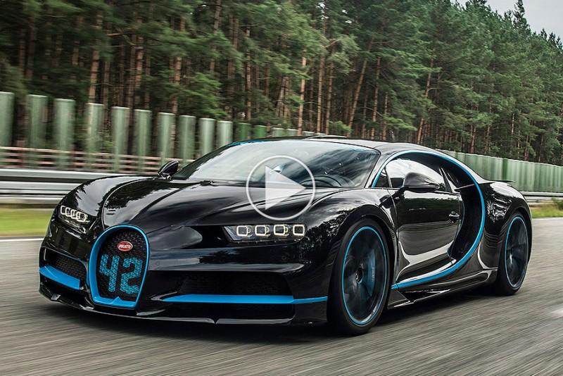 Se en Bugatti Chiron gå fra 0-400-0 km/t på 42 sekunder