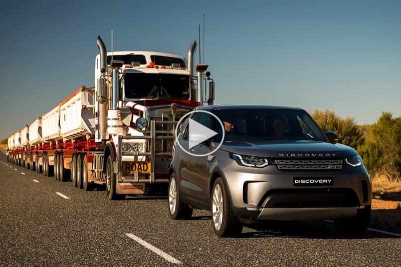 Se en Land Rover trække 110 ton tungt road train så let som ingenting
