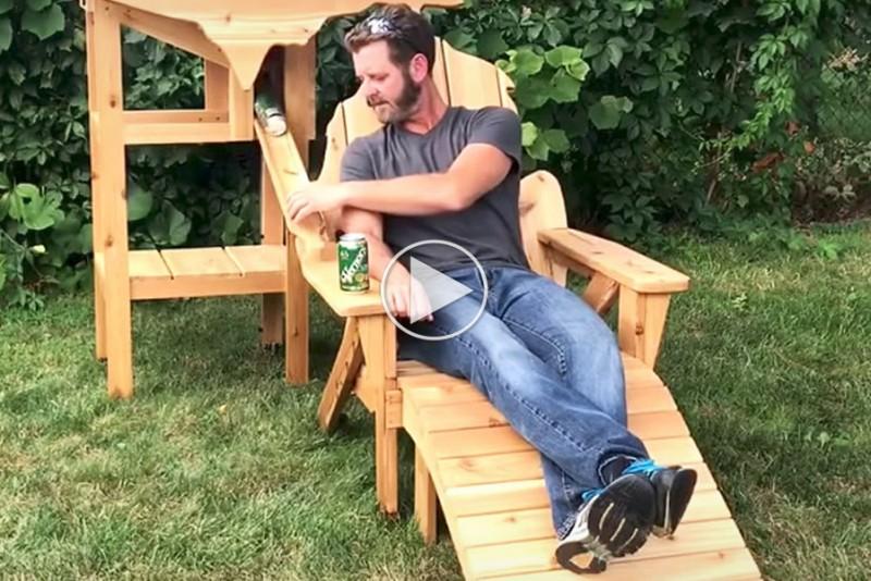 Øl-stolen alle mænd vil være stolte over at sidde i