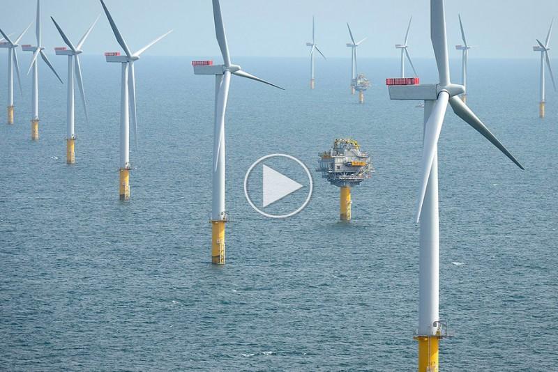 Verdens første flydende vindmøllefarm er et imponerende sted
