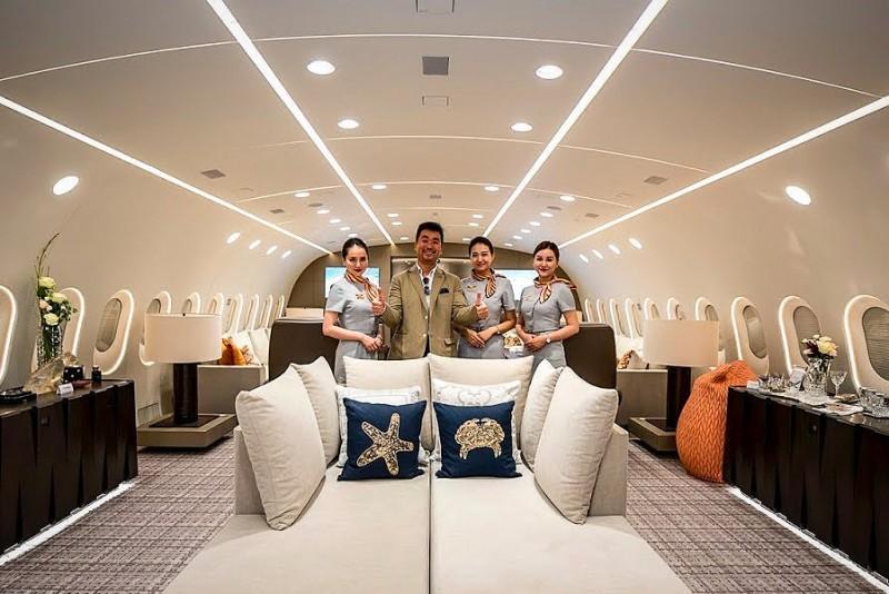Kom indenfor i verdens eneste privatejede Boeing 787 Dreamliner