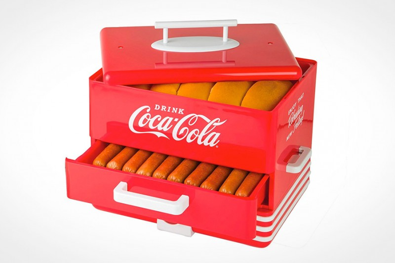 Nostalgia Extra Large Coca-Cola Hot Dog Steamer