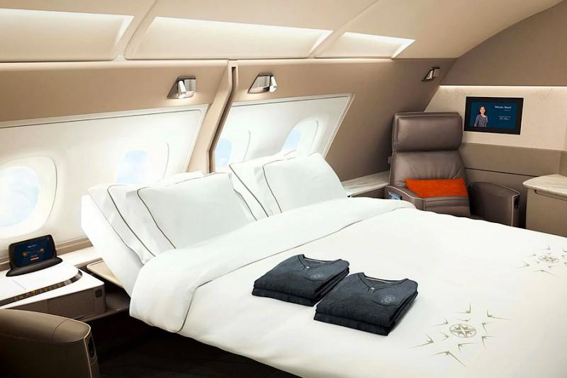 Singapore Airlines udstyrer verdens største fly med hotelsuites