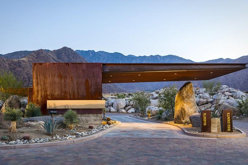 Studio AR&D Architects Desert Palisades Guardhouse