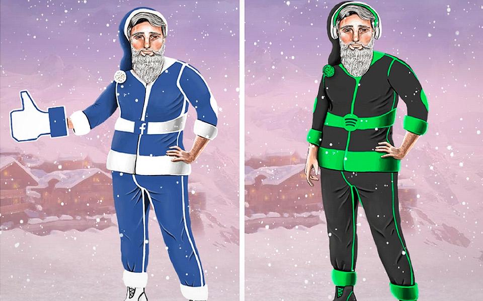 Hvordan ville Julemanden se ud, hvis han var et moderne brand?