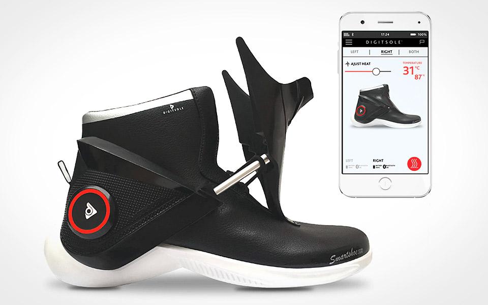 Digitsole Smartshoe - selvsnørende sneakers med indbygget varme
