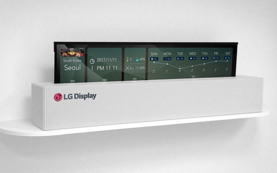 Tidsmæssigt LG's nye 65 tommer OLED-TV kan rulles sammen MT-73