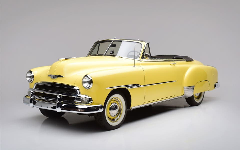 Nu kan du købe Steve McQueensChevrolet Styleline Deluxe convertible fra 1951