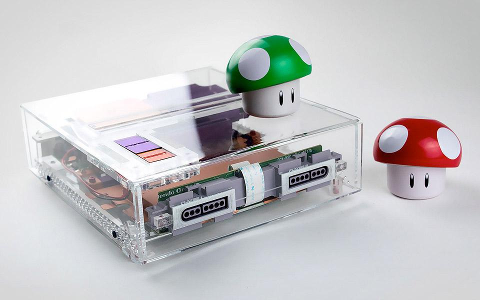Rose Colored gennemsigtig Super Nintendo
