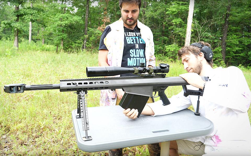 The Slow Mo Guys filmer en .50 kaliber riffel i Super Slow Motion