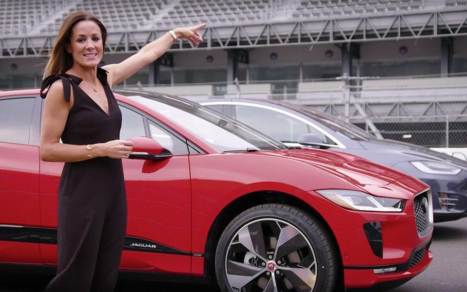 Den nye Jaguar I-PACE udfordrer Tesla Model X i et drag-race
