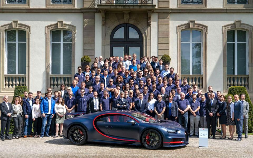 Bugatti har nu produceret 100 eksemplarer af Chiron