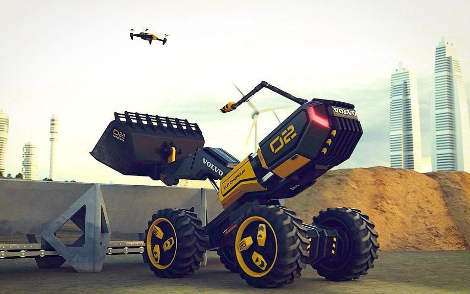 Volvo og LEGO har lavet en selvkørende hjullæsser med drone