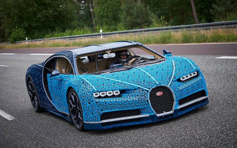 LEGO og Bugatti har bygget en klods-Chiron i fuld størrelse