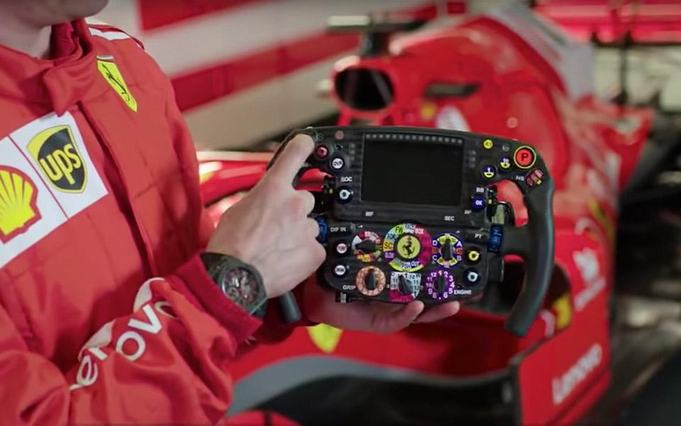 Kimi Raikkonen giver en rundtur på Ferraris vilde F1-rat