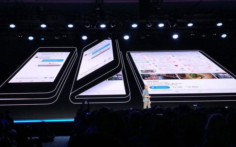 Samsung fremviser deres første mobil med bøjelig skærm