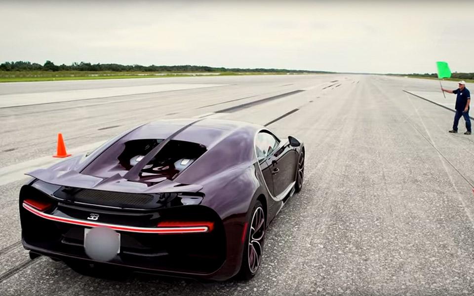 Nå, men hvor hurtig er Bugatti Chiron egentlig?