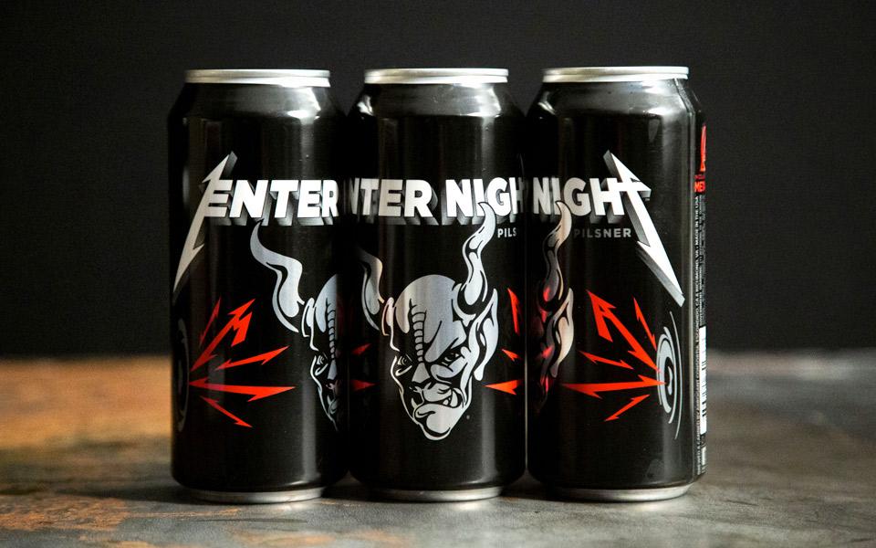 Metallicas øl hedder Enter Night Pilsner