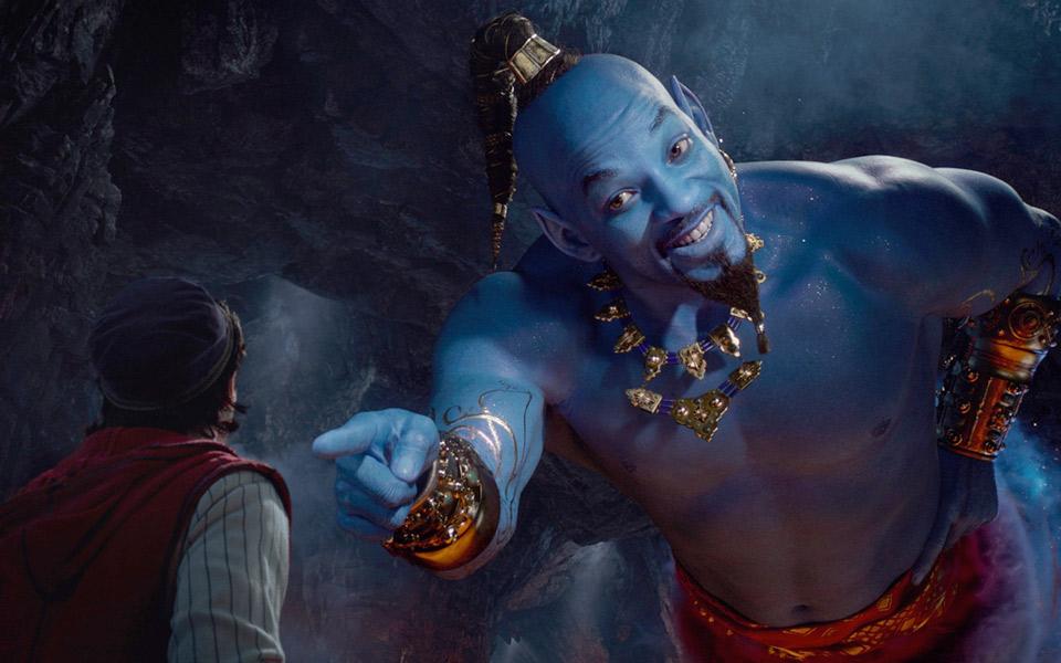 Første klip fra Aladdin viser Will Smith som ånden i lampen