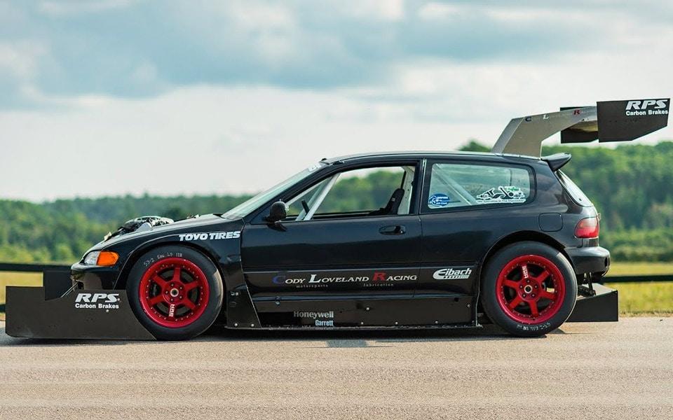 Hjemmebygget Honda Civic fra 1993 er et fart-bæst
