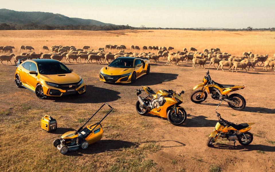 Honda fejrer 50 år i Australien med guld