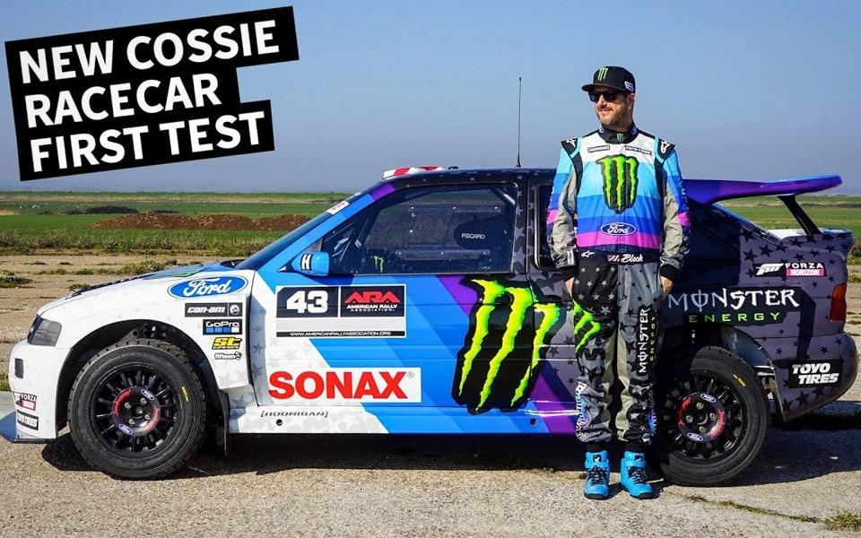 Ken Blocks nye Ford Escort Cosworth er vild