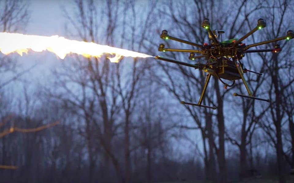 TF-19 WASP er en flammekaster til droner