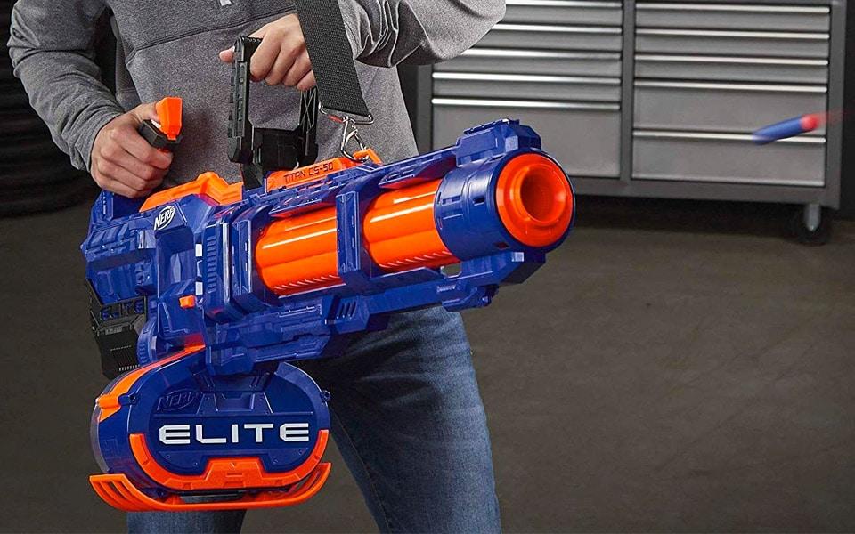 Med en Nerf Minigun får du ekstrem ildkraft
