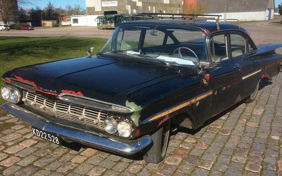 Den originale bil fra Olsen Banden er sat til salg