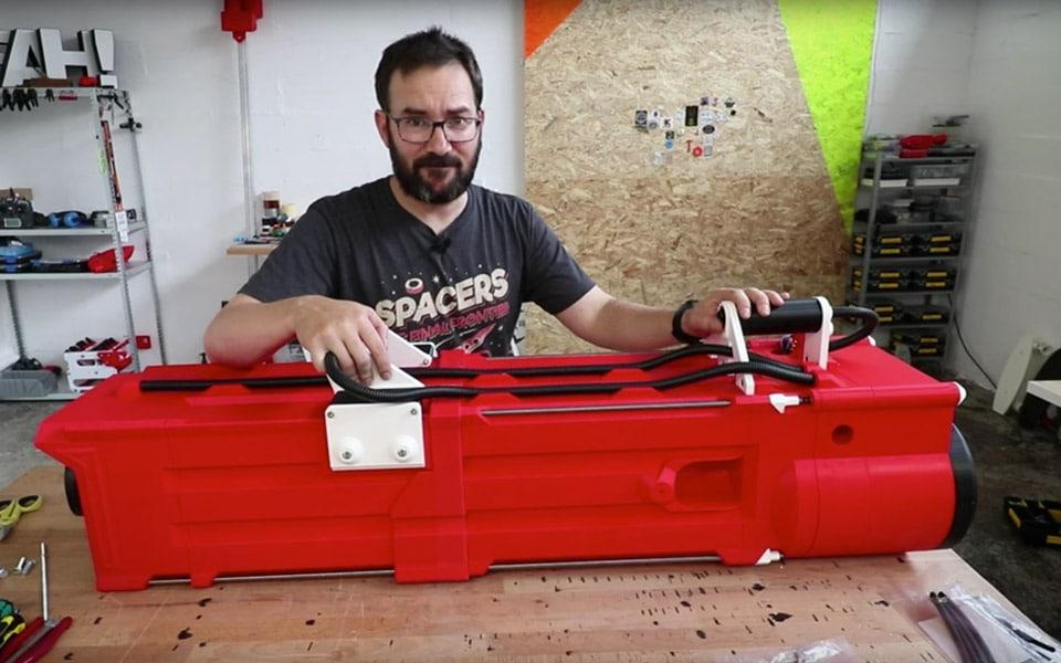 Verdens største Nerf Gatling Gun er ikke for sjov