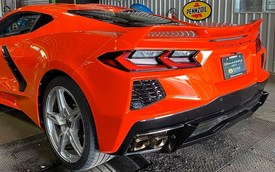 Hennessey Performance har opgraderet den nye Corvette med biturbo