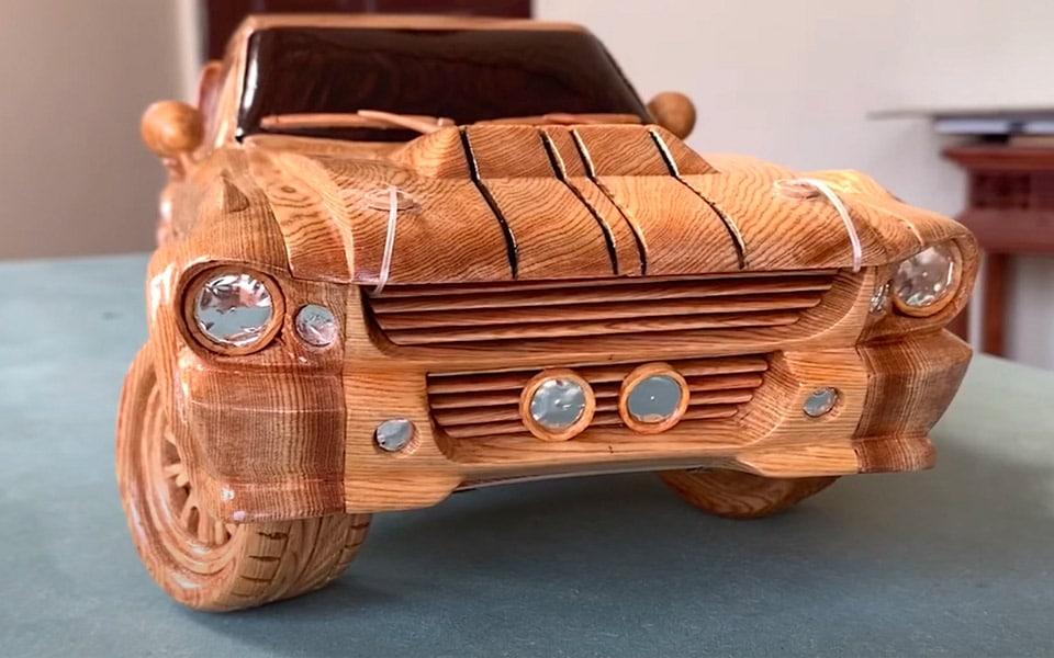 En Ford Mustang Eleanor af træ er ret imponerende