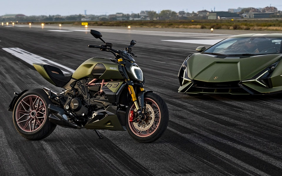 Lamborghini og Ducati er klar med en vild motorcykel